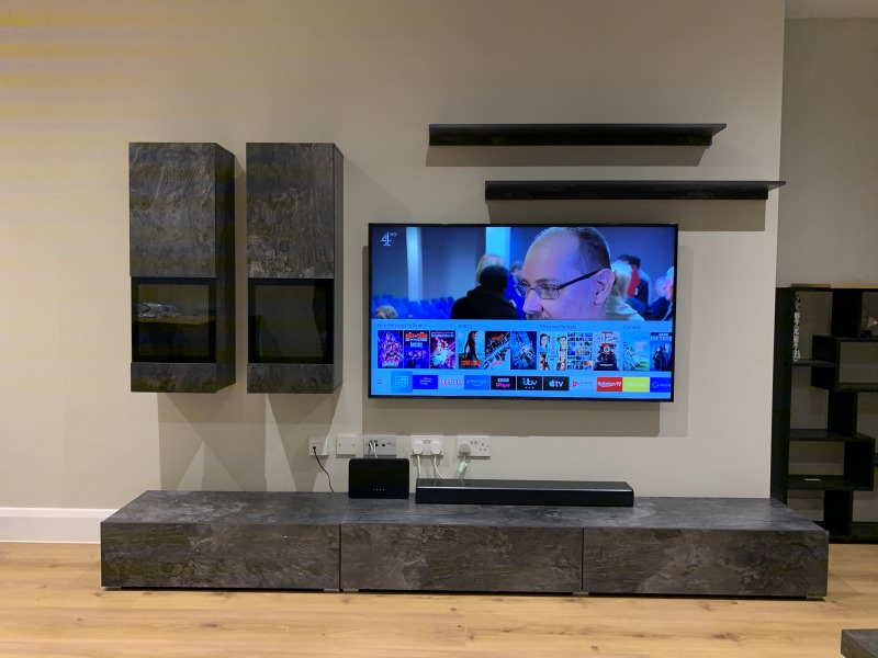 TV Wallmounting with Cabinet